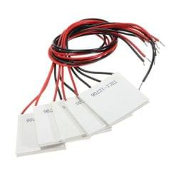 5PCS TEC1-12706 40x40MM 12V 60W Heatsink Thermoelectric Cooler Semiconductor Refrigeration Cooling Peltier Plate Module