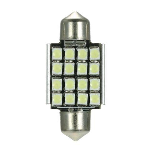 White 12V 36mm 16 SMD 3528 Car Interior Dome Festoon LED Light Bulbs Lamp