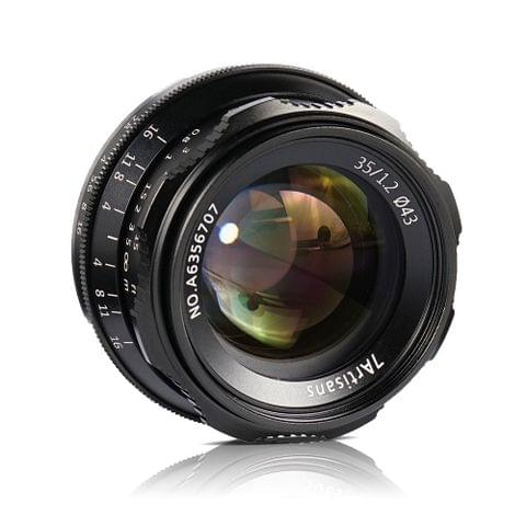 7artisans 35mm F1.2 Manual Focus Camera Lens Large Aperture APS-C for Sony A7/A7II/A7R/A7RII/A7S/A7SII/A6500/A6300 E-Mount Mirrorless Cameras