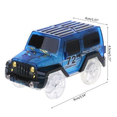 LED Cars Night Luminous Magic Electronics Vehicle Flashing Lights Kids Educational Toy Christmas New Year Gift