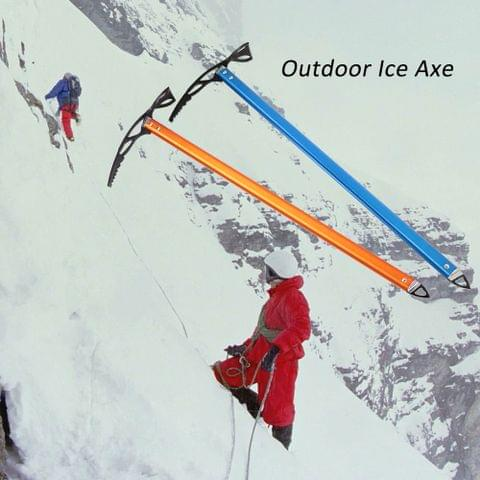 Ice Axe Lightweight Anodized Aluminum Design Self Arrest for Hiking Glacier Snowy Snowbank