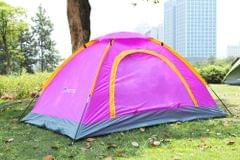 Camping Tent for 2 Persons Waterproof UV-resistant Outdoor Travel Beach Portable Purple