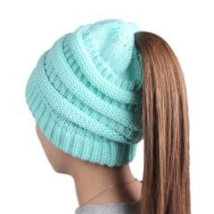 Woolen Warm Hat Fashion Knitting Winter Beanie Cap Chunky Cozy Pure Color Hats for Women Soft  Baggy Headgear
