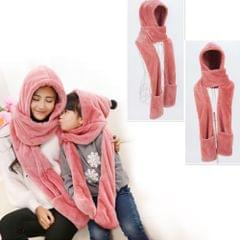Parenting Style Autumn and Winter Collection Cute Extra Thick and Long Comfortable Warm Female Neck Scarf Hat Gloves Three Pieces in One