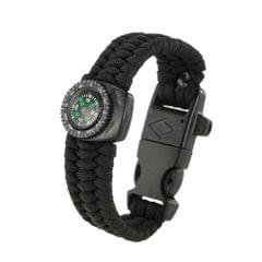 Lixada 2PCS 5-in-1 Outdoor Survival Paracord Bracelet with Compass Fire Starter and Emergency Whistle