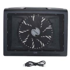 HANJUNG Grip Mesh Ultra Silent Dual USB Ports 17 * 200MM Notebook Laptop Fan Cooling Cooler Pad Heatsink Radiator