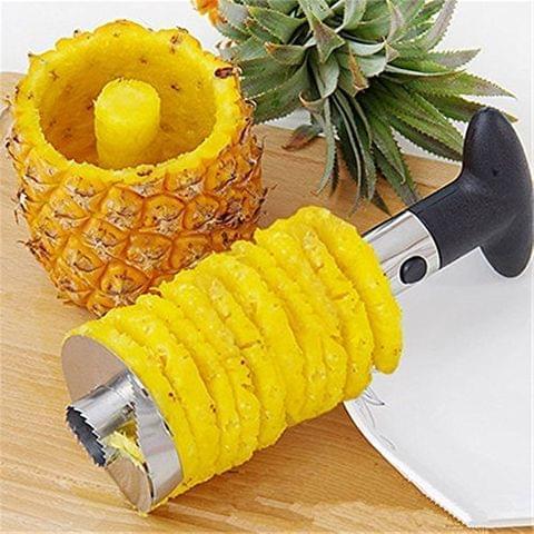 vaibhav traders Jhmart Heavy Stainless Steel Fruit Pineapple Corer Slicer Peeler Kitchen Cutter Knife