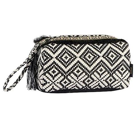 STRIPES Presents Friendship Day Black/Off White Toiletry Bag/Cosmetic Pouch