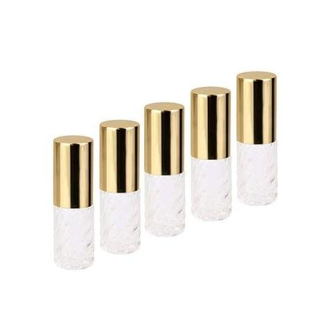 Imported 5Pcs 5ml Transparent Replacement Travel Empty Roll-on Glass Perfume Bottle