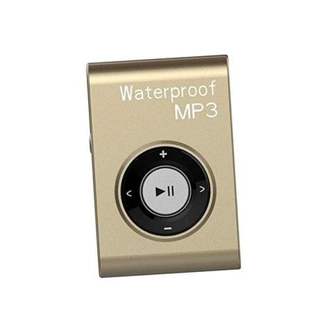 Waterproof Mp3 Music Player Stereo Audio Sound with Clip Lossless Support MP4 WMA APE WAV 16GB Gold