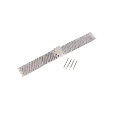 Silver Stainless Steel Wrist Watch Band Replacement Mesh Metal Strap 18mm 20mm 22mm