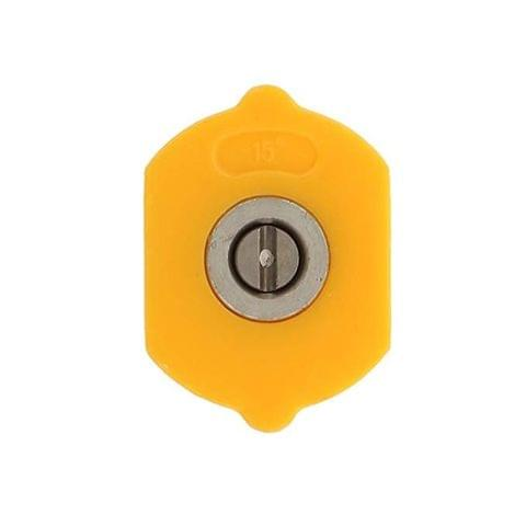Imported 15 Degree 1.2mm Hole High Pressure Car Washing Sprayer Nozzle Head Yellow