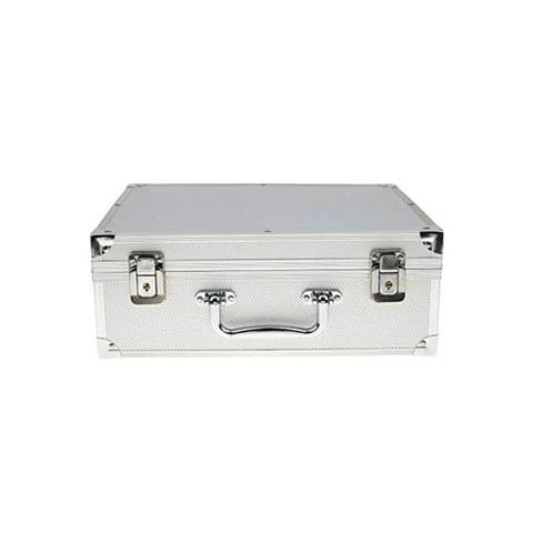 Shockproof Aluminum Alloy Portable Tattoo Accessory Toolbox Backpack Silver