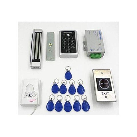 Generic Imported 1000-User Rfid Access Control System Kit W/ Magnetic Lock Id Keyfob Doorbell