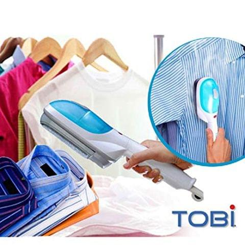 Aryshaa Portable Plastic Steam Iron Tobi Travel Steamer Garment Hand Steamer for Clothes - White