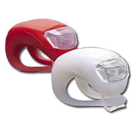 Aryshaa Savfy 2 x LED Bright Silicone Bike Bicycle Front and Rear Flashlight Flash Kit Set (ZK-2)