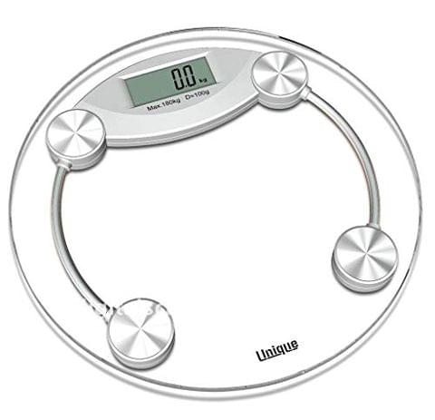 Aryshaa Digital Electronics 8 mm Thick Tempered Glass Step on Personal Bathroom Weighing Scale