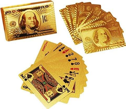 Aryshaa Poker Golden Playing Cards, 60x21x88mm