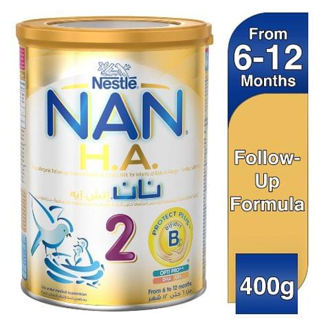 اتش ايه 2 تركيبة غذائية منخفضة التحسس من 6-12 شهر ( مدعم بالحديد ) 400 غرام