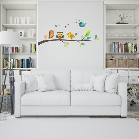 """DIY Wall Stickers Singing Birds for Home Décor (24""""X12"""")"""