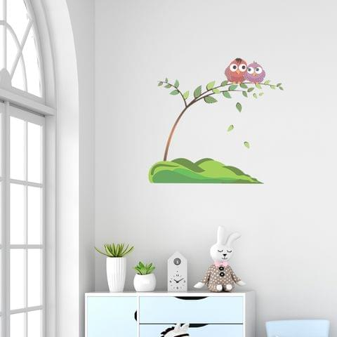 "DIY Wall Stickers Two Owls for Home Décor (12""X12"")"