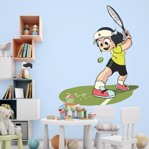 """DIY Wall Stickers Girl Tennis for Home Décor (24""""X18"""")"""
