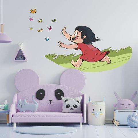 "DIY Wall Stickers Girl & Butterfly for Home Décor (24""X18"")"