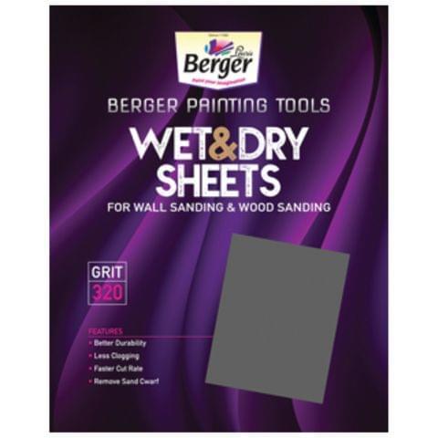 Berger Wet and Dry Sanding / Emery Paper / Sandpaper - Grit 60