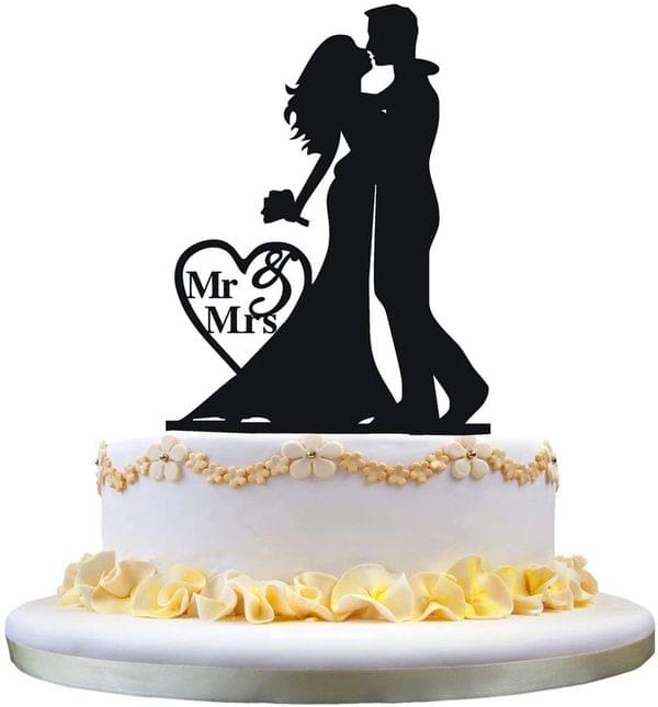Cake Topper-Bride And Groom Cake Topper For Wedding