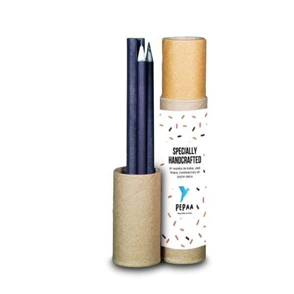 Eco-friendly Paper Pencil, Black [Pack of 10 in a Tube]