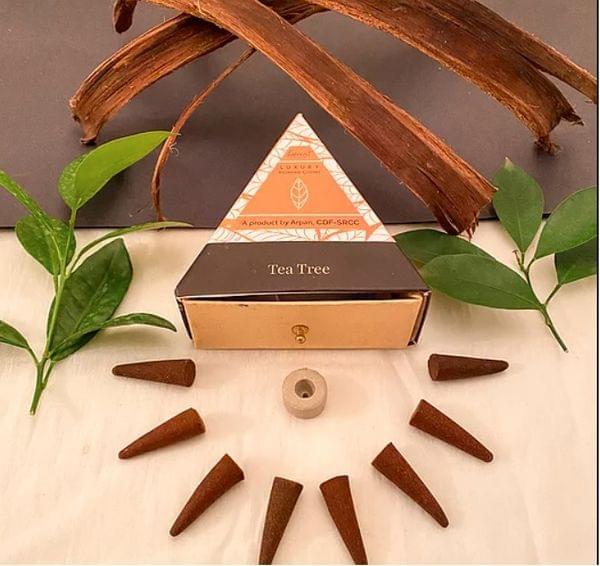 Flower-Based Tea Tree Incense Cones